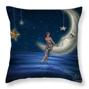 Moon Goddess Throw Pillow by Juli Scalzi