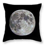 Moon Hdr Throw Pillow