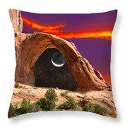 Moon In Corona Arch Throw Pillow