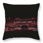 Moon In The Arches In Neon 2 Edited Throw Pillow