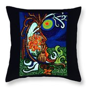 Moon In Tree Throw Pillow
