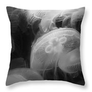 Moon Jellyfish Throw Pillow