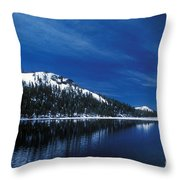 Moon - Lake Throw Pillow