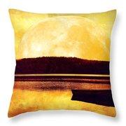 Moon Landscape Throw Pillow