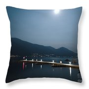 Moon Light And A Port Throw Pillow