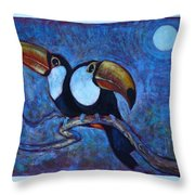 Dreaming Of A Rainforest Moon Throw Pillow