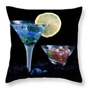 A Creative Cocktail - Moon Light Cocktail Lemon Flavour 1 Throw Pillow