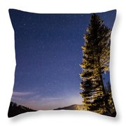 Moon Light Over Tenaya Lake Throw Pillow