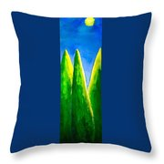 Moon-lit Night Throw Pillow