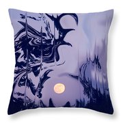 Moon Madness Throw Pillow