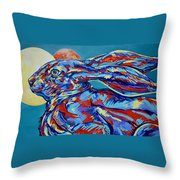 Moon Mars Rabbit Throw Pillow