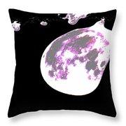 Moon Melt Throw Pillow