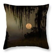 Moon Mists Throw Pillow