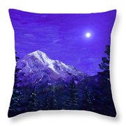 Moon Mountain Throw Pillow