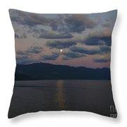 Moon On The Lake Throw Pillow
