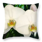 Moon Orchid Pair Throw Pillow