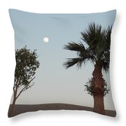 Moon Over Baja Desert Throw Pillow