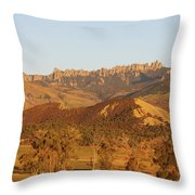 Moon Over Cimarron Throw Pillow by Eric Glaser