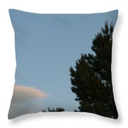 Moon Over Cloud Throw Pillow