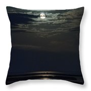 Moon Over Core Sound Throw Pillow