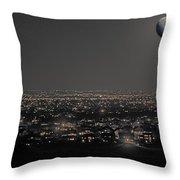 Moon Over Fort Collins Throw Pillow