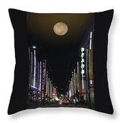 Moon Over Granville Street Throw Pillow by Ben and Raisa Gertsberg