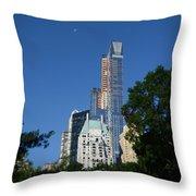 Moon Over Manhattan Throw Pillow