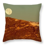 Moon Over Mount Ida Throw Pillow