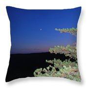 Moon Over Mountain Throw Pillow