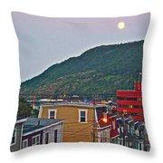 Moon Over Saint John's-nl Throw Pillow