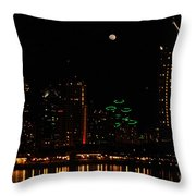 Moon Over San Diego Throw Pillow