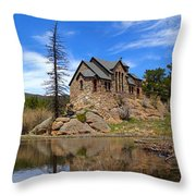 Moon Over St. Malo Throw Pillow
