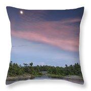 Moon Over The Bay Throw Pillow
