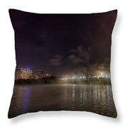 Moon Over The Bridge Throw Pillow