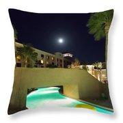 Moon Over The Casino Throw Pillow