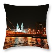 Moon Over The Danube Throw Pillow