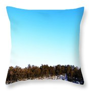 Moon Over The Lake Throw Pillow