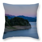 Moon Over The Palisades Throw Pillow
