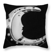 Moon Phase In Black And White Throw Pillow