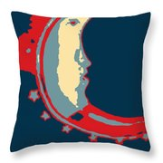 Moon Phase In Hope Throw Pillow