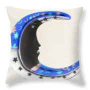 Moon Phase In Inverted Colors Throw Pillow