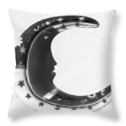 Moon Phase In Negative Throw Pillow
