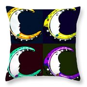 Moon Phase In Pf Quad Colors Throw Pillow