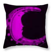 Moon Phase In Purple Throw Pillow