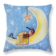 Moon Piper Throw Pillow