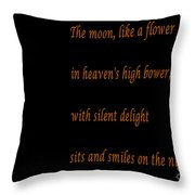 Moon -quote - Poem Throw Pillow