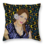 Moon Glow At Midnight Throw Pillow