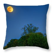 Moon Rising At The Lake House 05/24/13 Oakland County Mi Throw Pillow