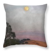 Moon Rising Throw Pillow