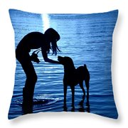 Moon Shadow Throw Pillow by Laura Fasulo